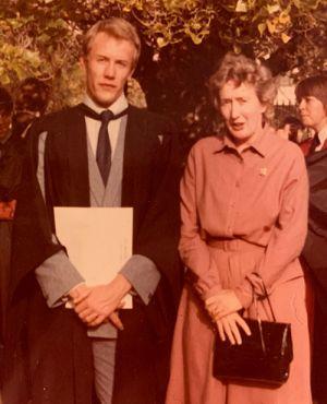 On graduation day – Hugh and Barbara Possingham