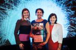 Dr Linda Pfeiffer with Hon Shannon Fentiman and Hon Leeanne Enoch