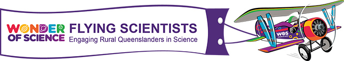 Flying scientist logo